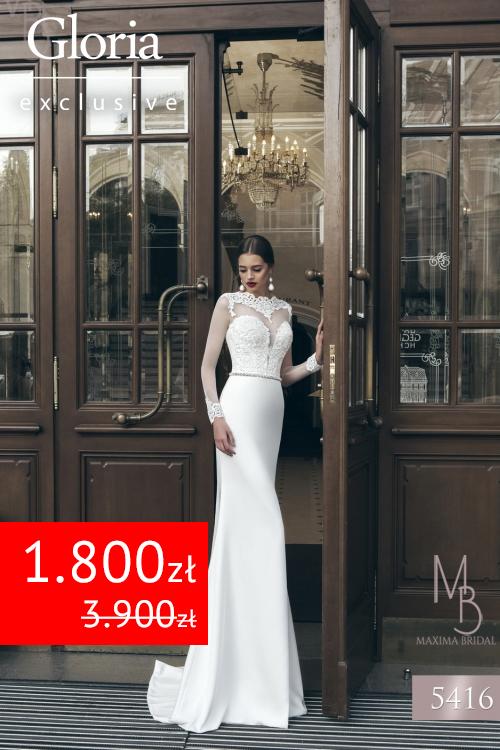 30c66ae0f6 Wyprzedaż 2017 suknia Maxima 5416 - Gloria Suknie Ślubne